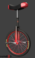 unicycle 3D model