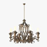 3D classic chandelier model