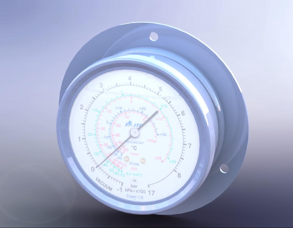 3D manometer - compound pressure