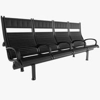 3D airport seating figueras carlitos model