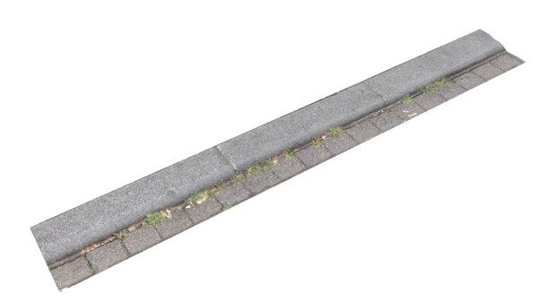 3D street curbstone