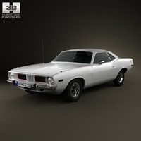 plymouth barracuda 1974 3D model