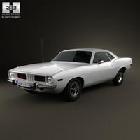 plymouth barracuda 1974 3D model