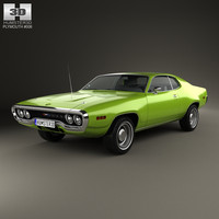 plymouth satellite 1971 3D