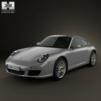 3D porsche 911 carrera model