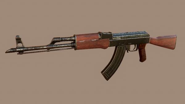 3D model ak-74