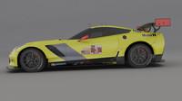3D chevrolet corvette c7r model
