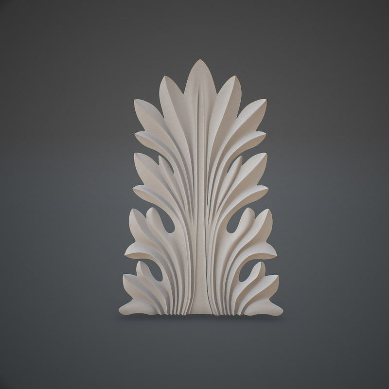 Acanthus leaf 3d model 1144890 turbosquid for Acanthus leaf decoration