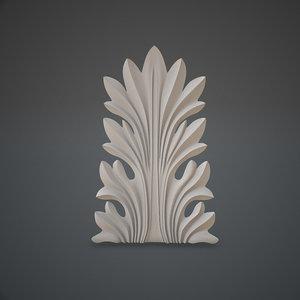 acanthus leaf 3D model