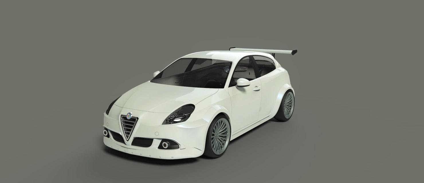 3D model alfa romeo giulietta 2010