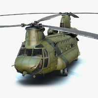 CH-47 Chinook (Low Poly)