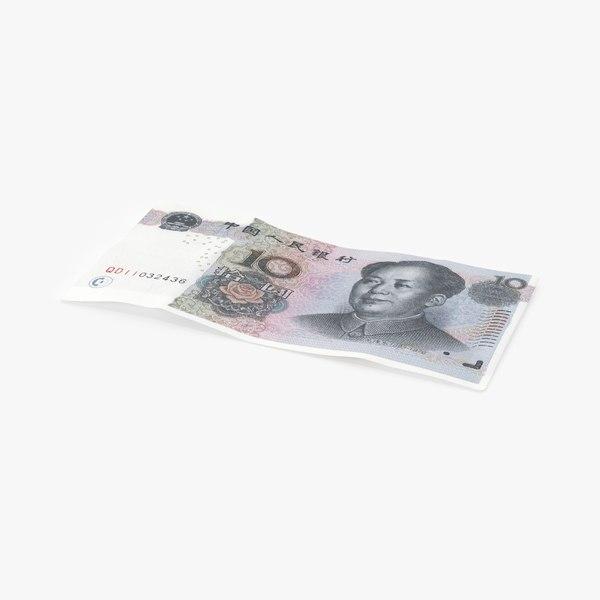 3D 10-yuan-note---single