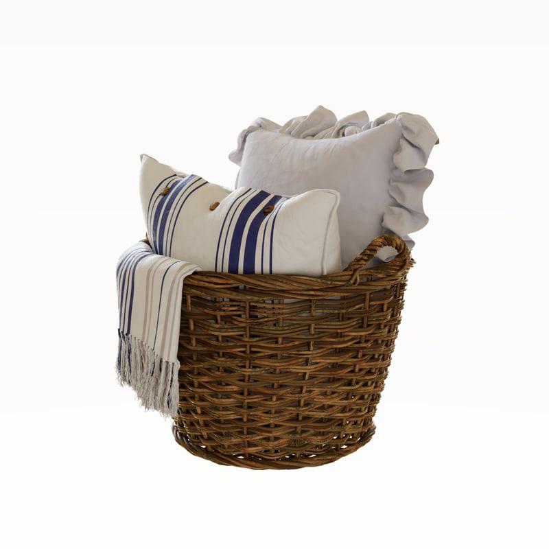 3D basket pillow
