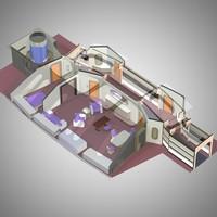 3D vip guest room poser model