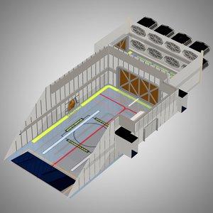 3D model cargo bay poser