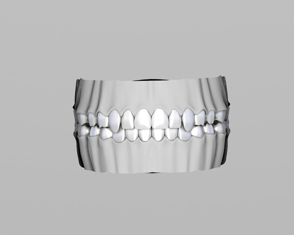 teeth tongue 3D