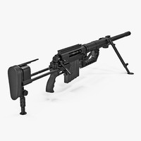 3D model rifle cheytac intervention m200