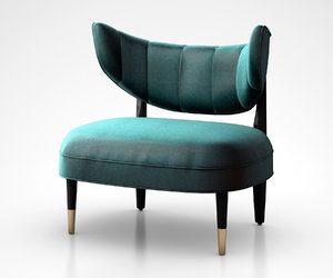 rue chair green 3D