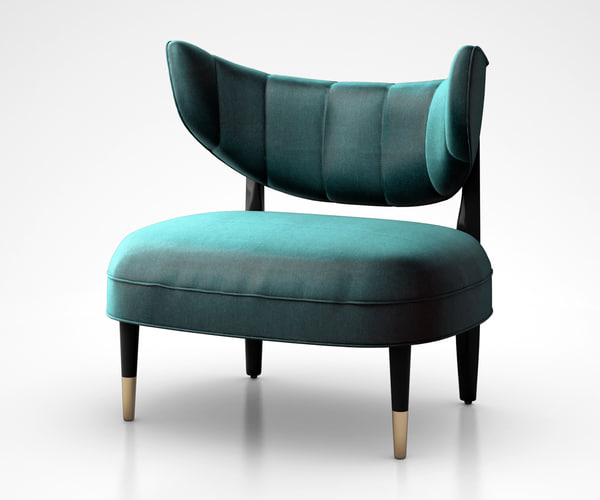 rue chair green 3D