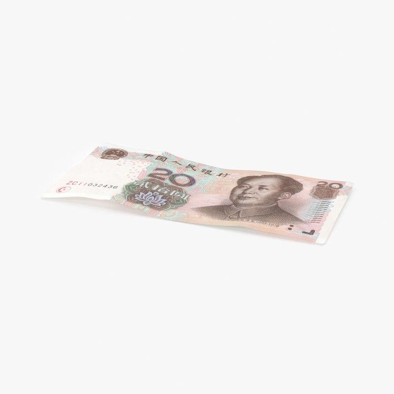 3D 20-yuan-note---single