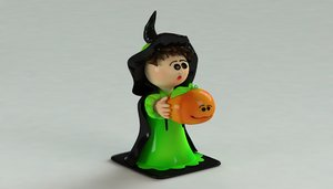 witch ornament 3D