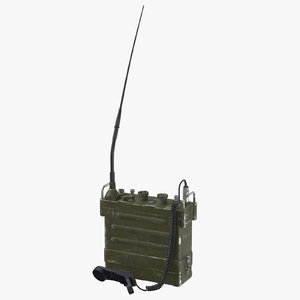 3D model prc 77 portable transceiver