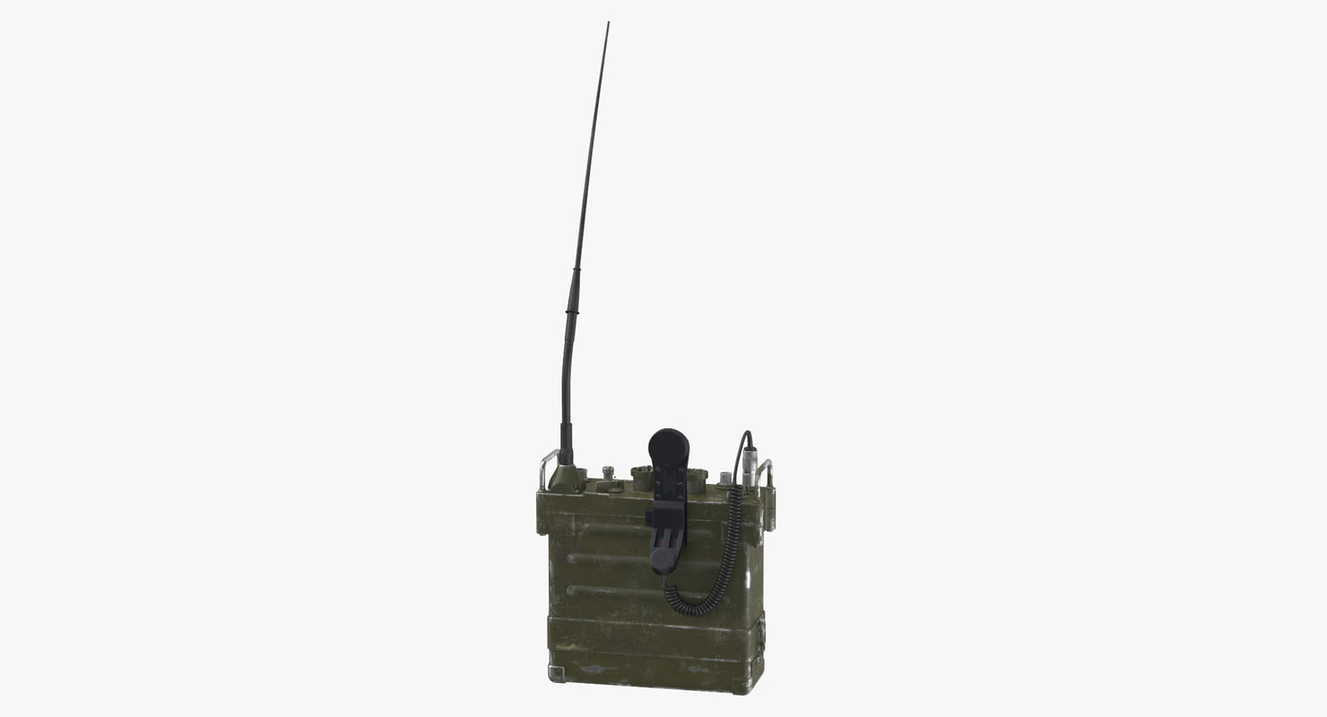 prc 77 portable transceiver 3D model