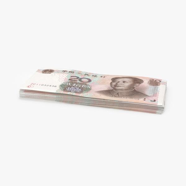 3D 20-yuan-note---pack
