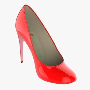 3D model heel shoe woman