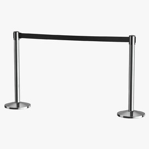 airport stanchions metal long model