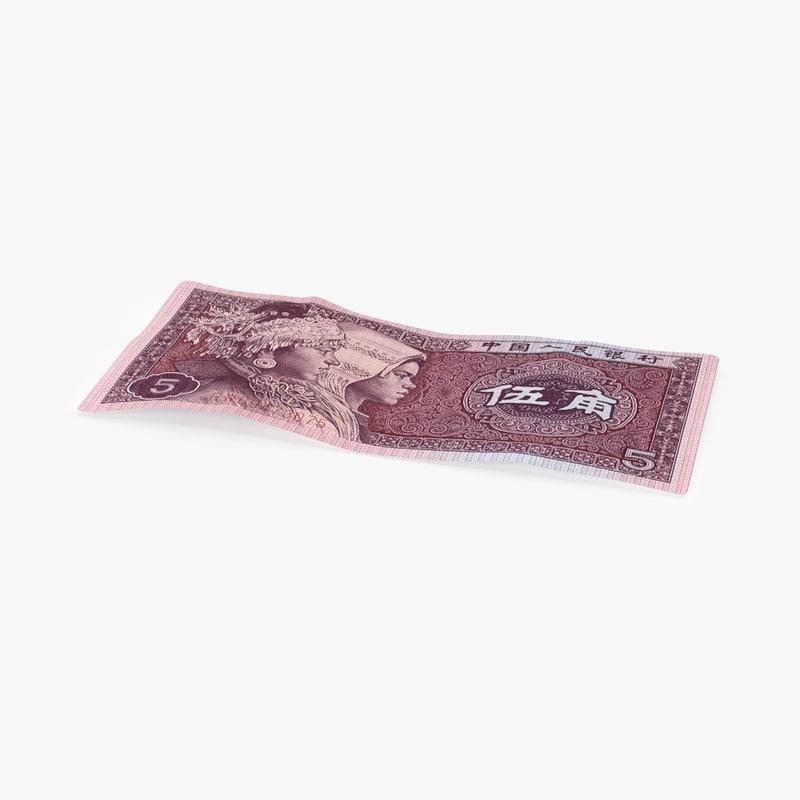 3D model 5-jiao-note---single