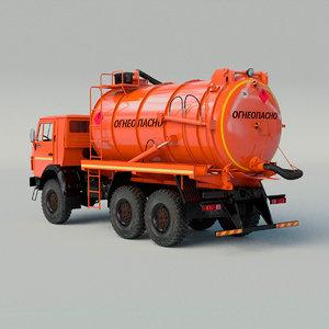 kamaz transportation fuel 3D model