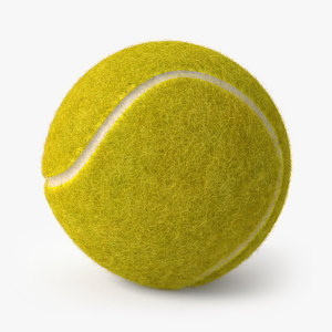 tennis ball fur 3D