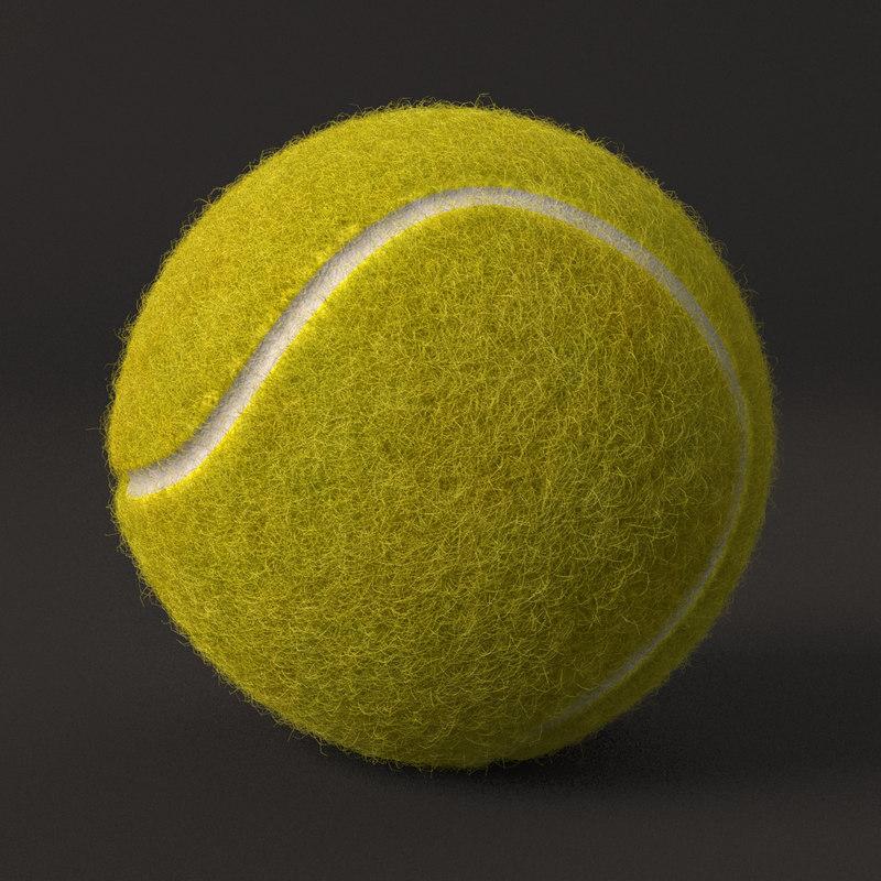 tennis ball fur 3D