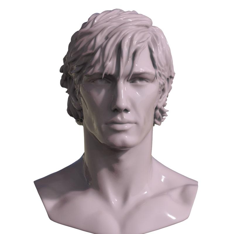 decimated mans 3D model