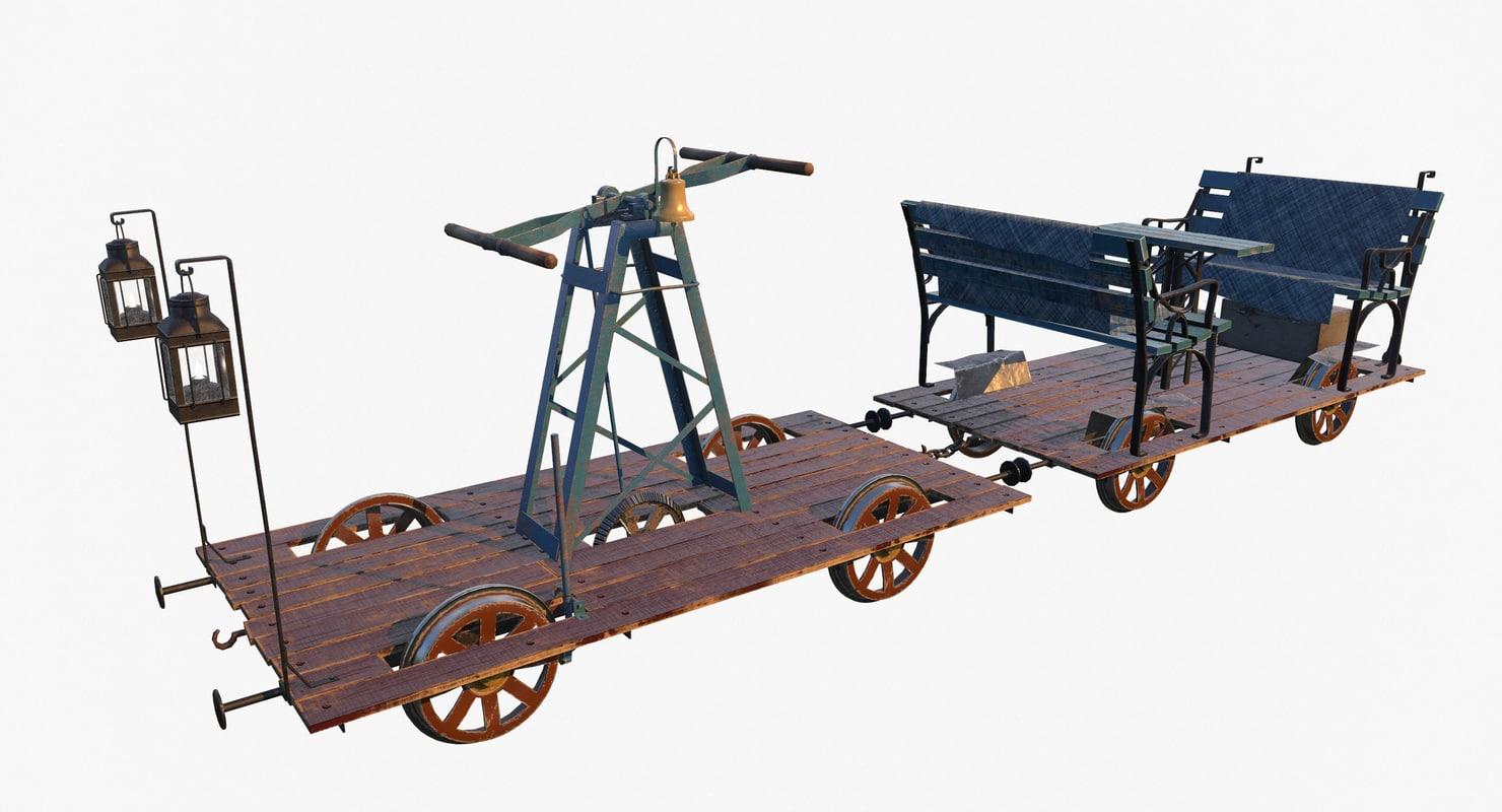 handcar pbr 3D
