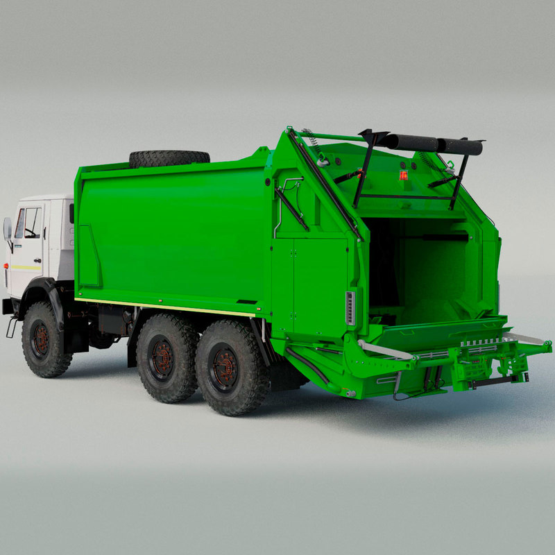 kamaz garbage truck 3D model
