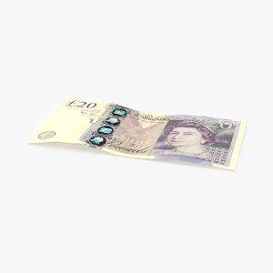 3D 20-pound-note---single