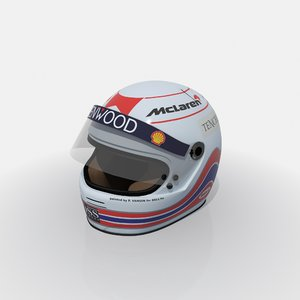 martin brundle f1 helmet 3D