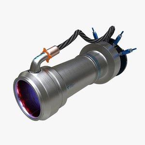 ion thruster 3D model