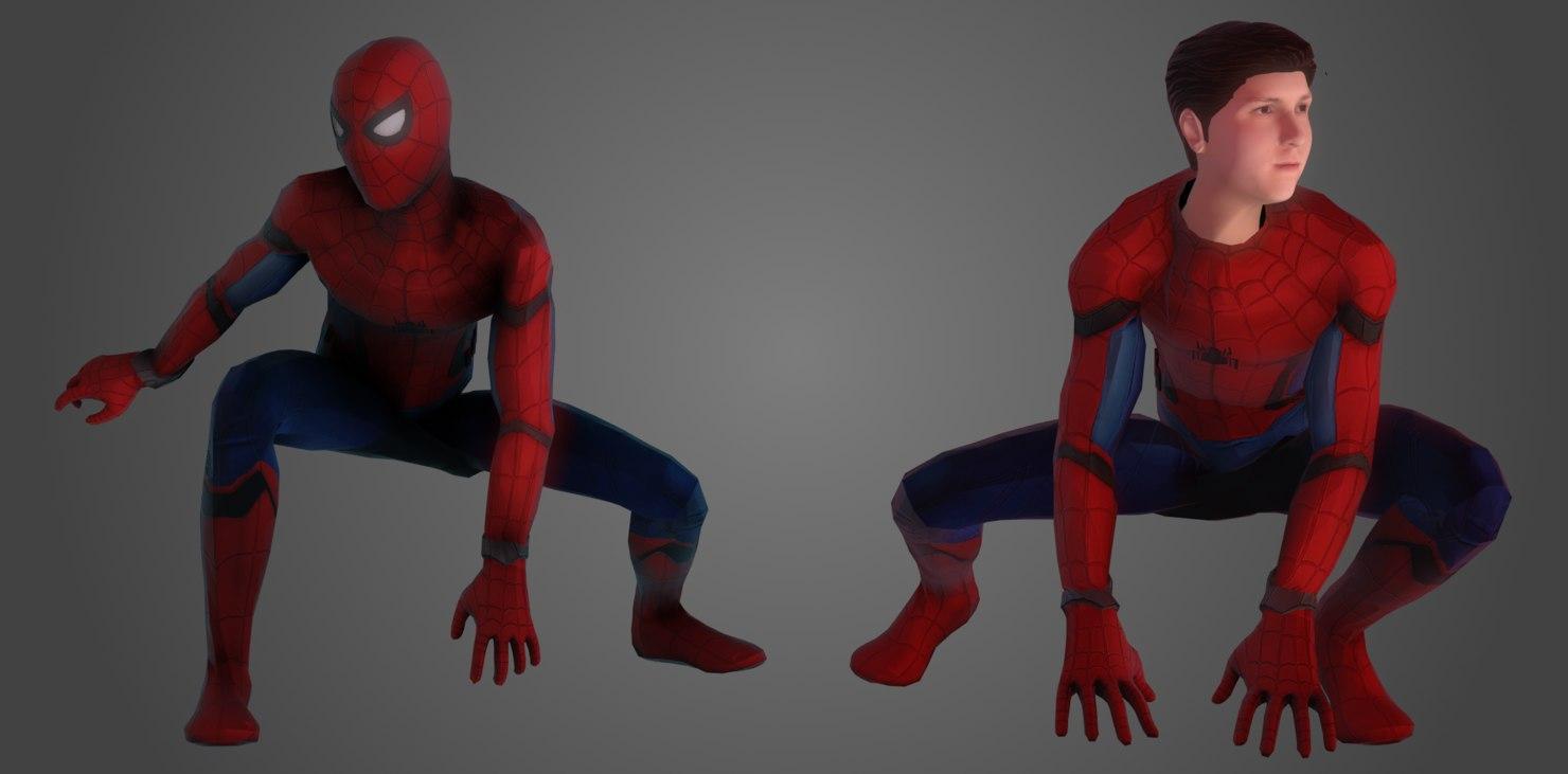 3D spider-man marvel model