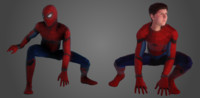 3D spider-man marvel model