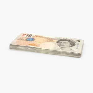 10-pound-note---pack 3D model