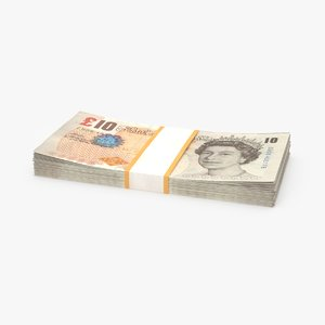 3D 10-pound-note---stack