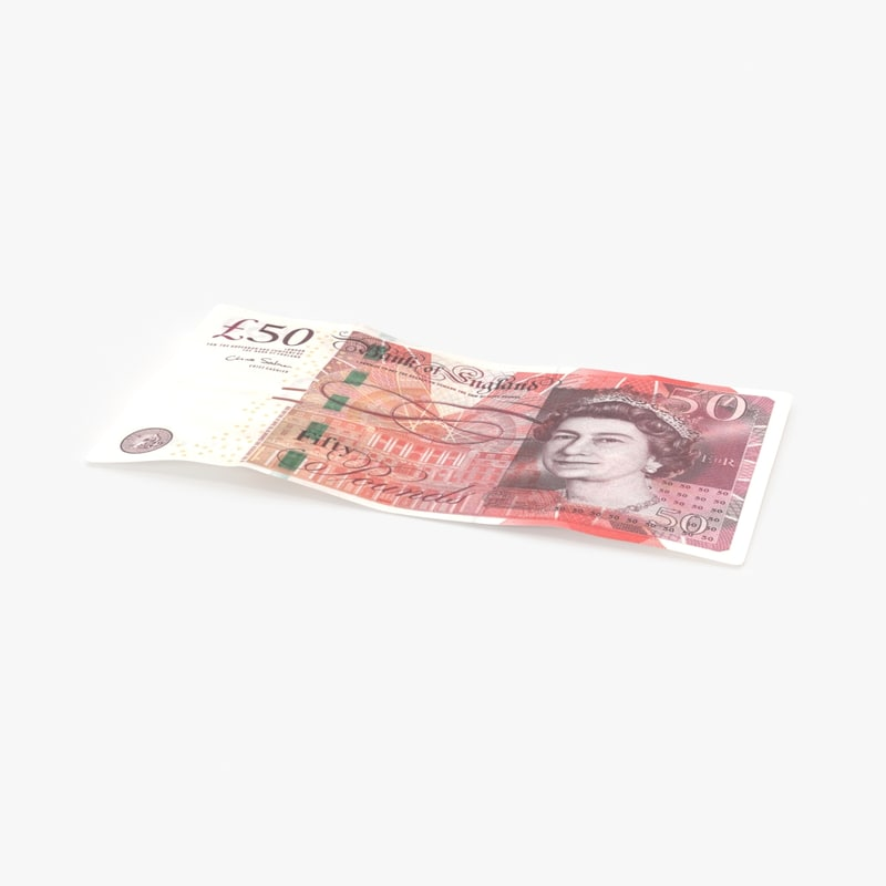50-pound-note---single model
