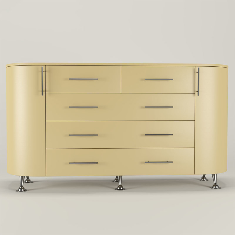 modern chest drawers 3D model