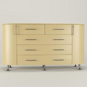 modern chest drawers 3D model