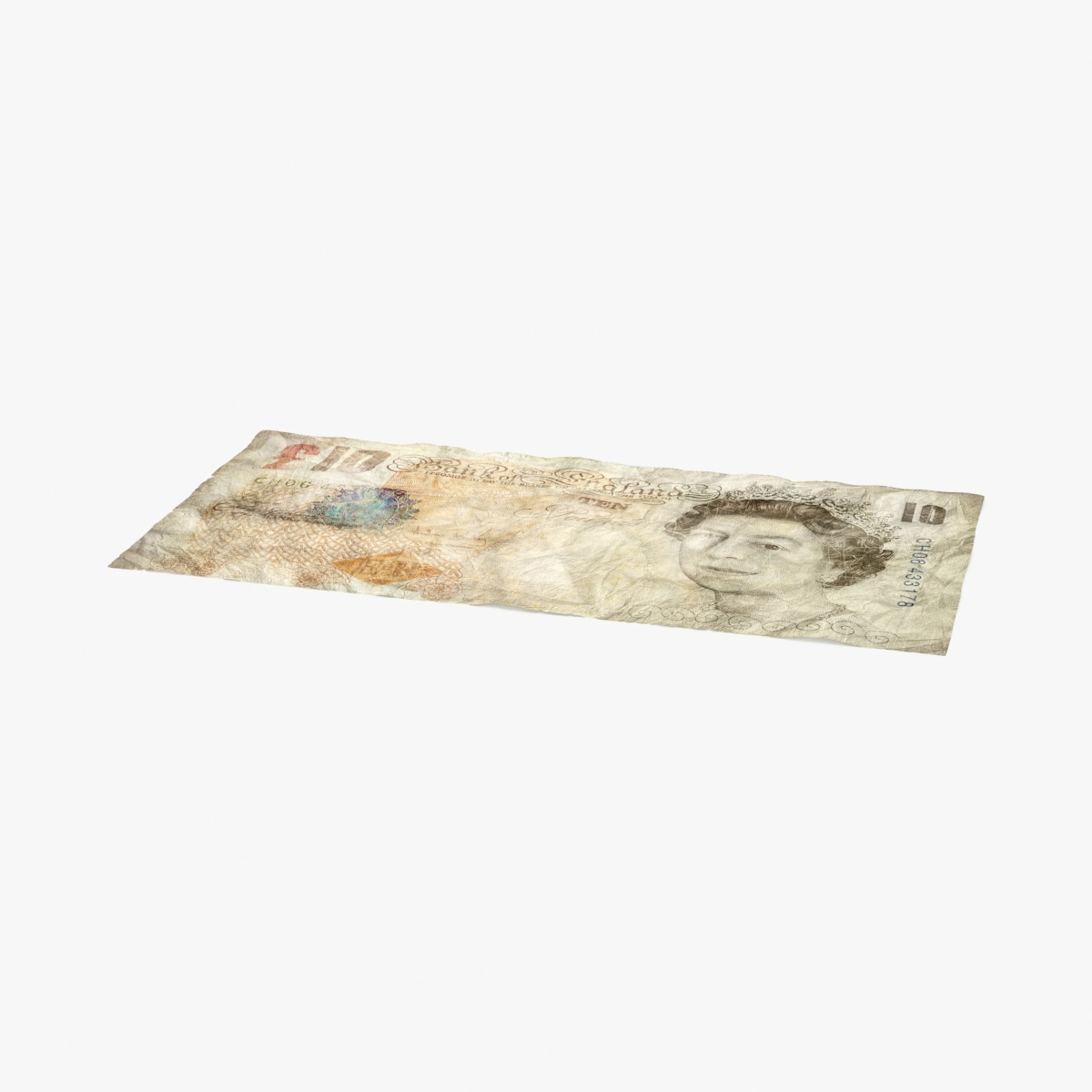 10-pound-note-distressed---single model