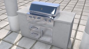 3D kitchen grill outdoor