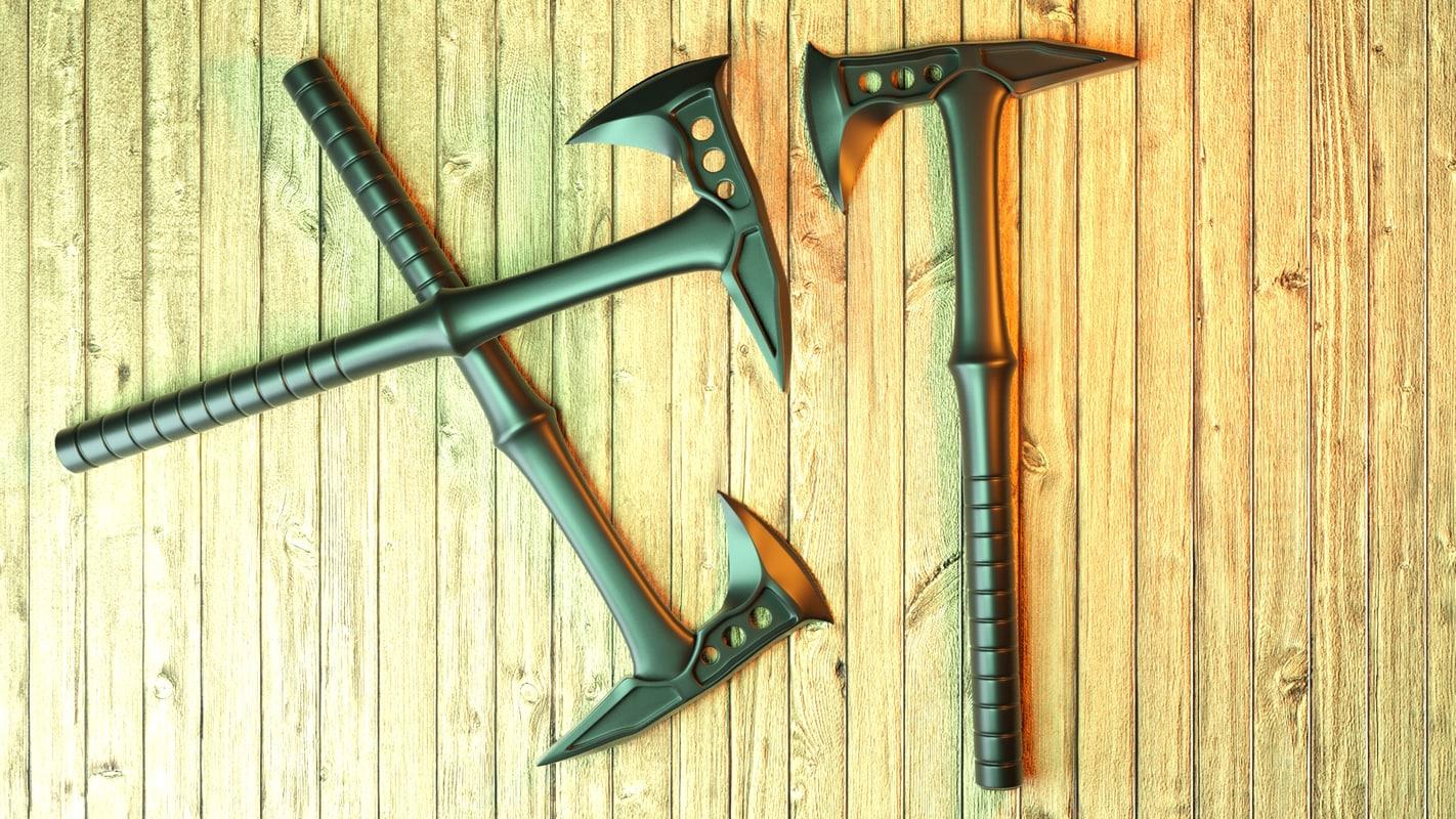 3D airsoft tomahawk model